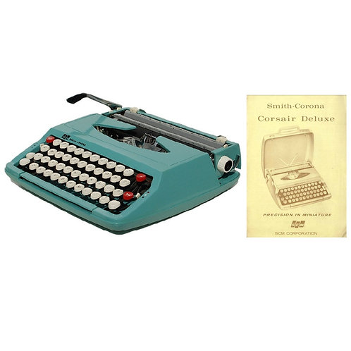 Smith Corona Corsair Deluxe Typewriter Instruction Manual