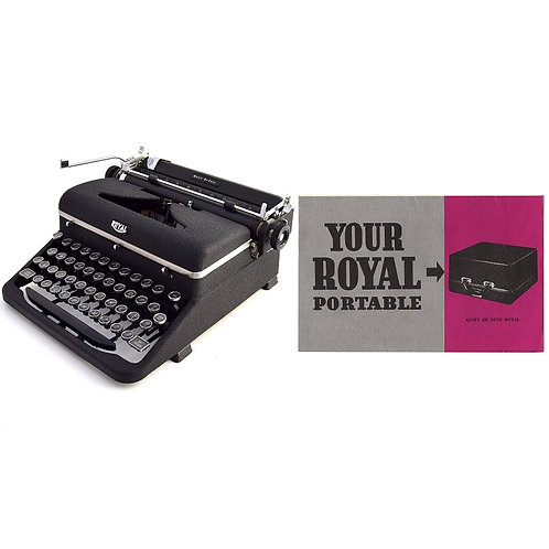 Royal Quiet De Luxe Typewriter Instruction Manual
