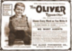Oliver Typewriter Ad