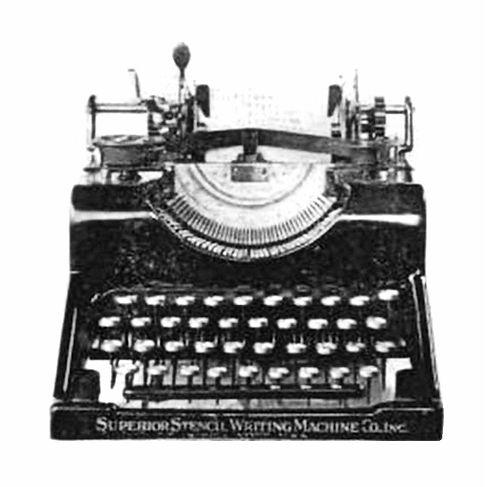 Superior Stencil Writing Machine (Typewriter)