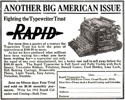 Rapid Typewriter Ad