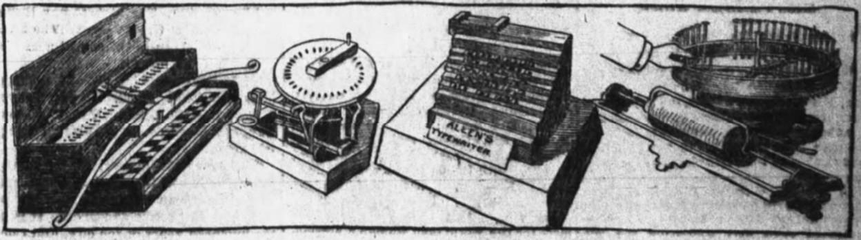 R.T.P. Allen Typewriter Patent Model