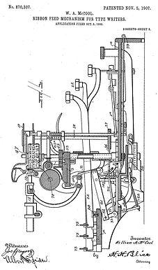 McCool Typewriter No.2 Patent