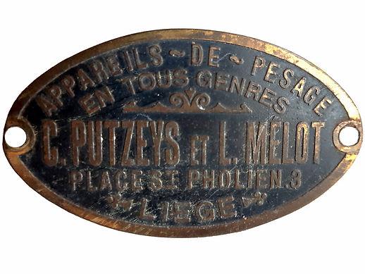 Putzeys & Melot Nameplate