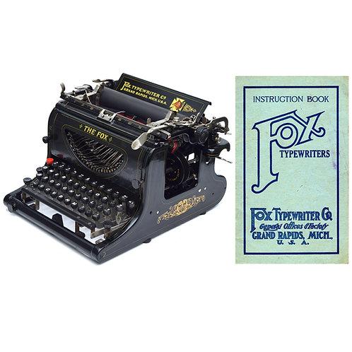 Fox No.24 Typewriter Instruction Manual