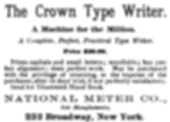 Crown Typewriter Ad