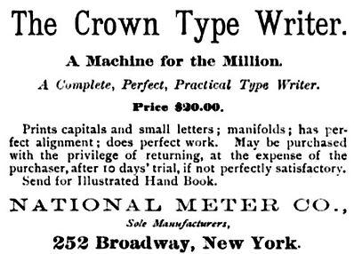 Crown Typewriter Ad