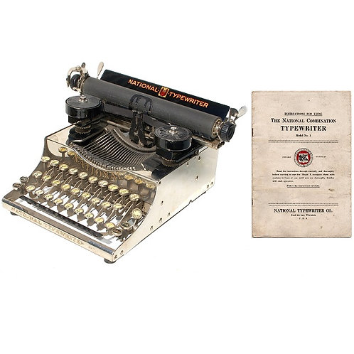 National No.5 Typewriter Instruction Manual
