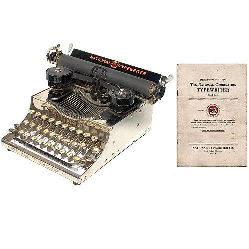 National No.5 Typewriter Instruction Manual