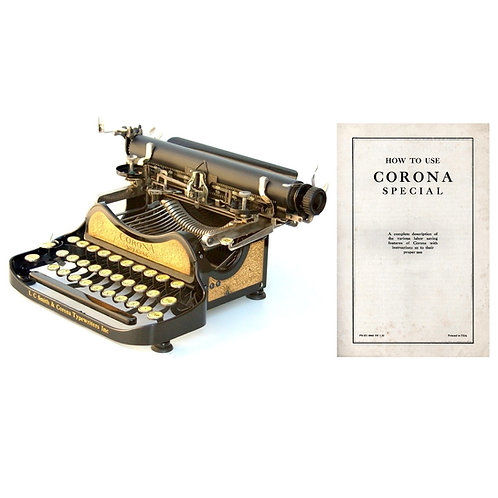 Corona No.3 Typewriter (Special) Instruction Manual