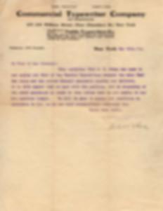 Commercial Typewriter Co Ephemera