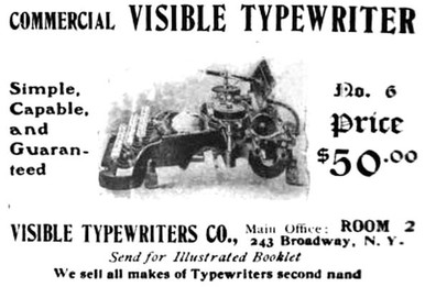 Commercial Visible Typewriter Ad