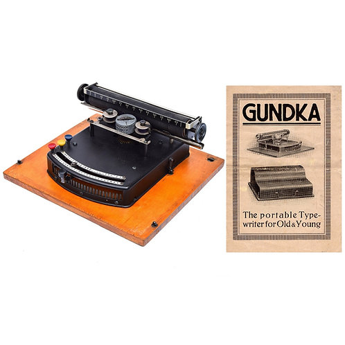 Gundka Typewriter Instruction Manual