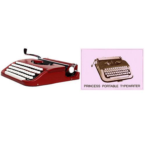Princess Portable Typewriter Instruction Manual
