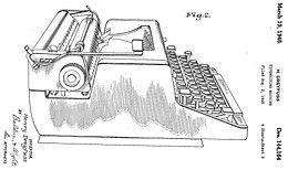 Gray Magic Portable Typewriter Patent