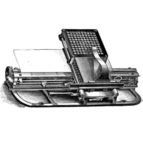 Hall Century Typewriter
