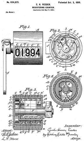 Veeder Ice Cream Scoop Patent