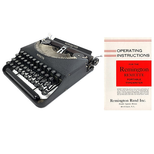 Remington Remette Typewriter Instruction Manual