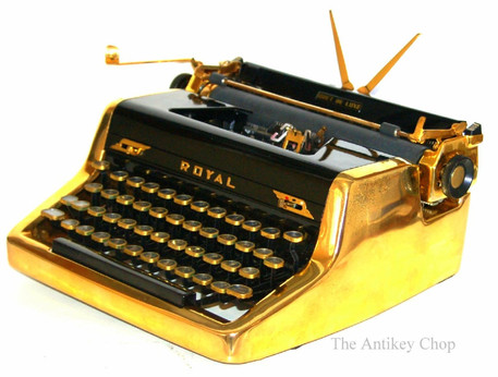 Gold Royal Quiet de Luxe Typewriter