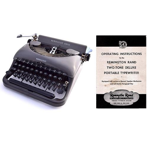 Remington Rand Deluxe Typewriter Instruction Manual