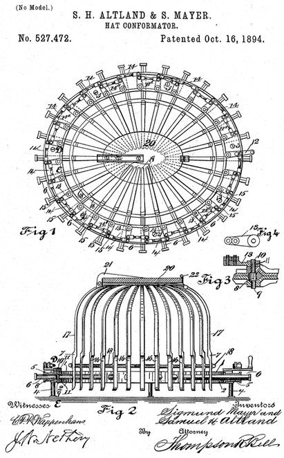 Perfection Hat Conformator Patent