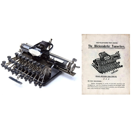 Blickensderfer No.5 Typewriter Instruction Manual