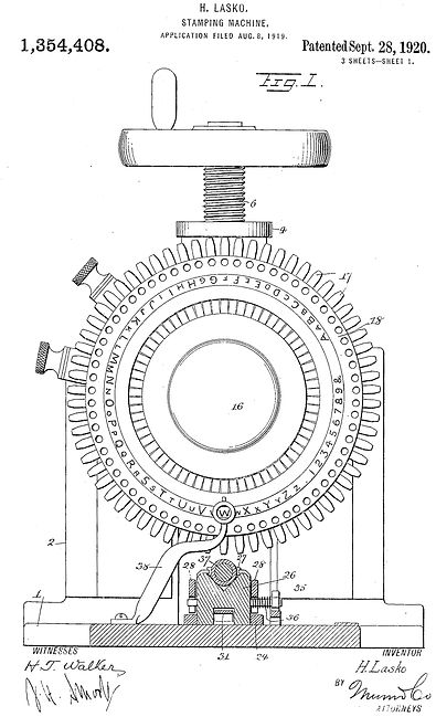 Namograph Patent