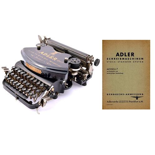 Adler Modell 7 Typewriter Instruction Manual