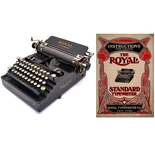 Royal Standard No.1 Typewriter (Flatbed) Instruction Manual (PDF)