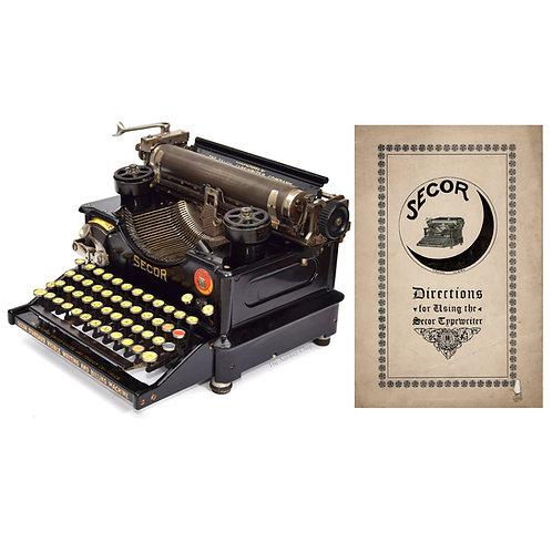 Secor No.2 Typewriter Instruction Manual (PDF)