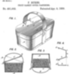 Burns Fruit Basket Cover Patent