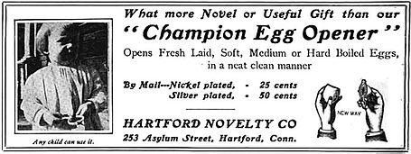 Hartford Novelty Company Ad 1888