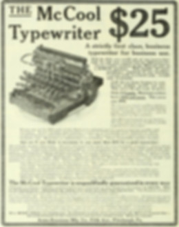 McCool Typewriter No.2 Advertisement