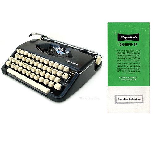 Olympia Splendid 99 Typewriter Instruction Manual