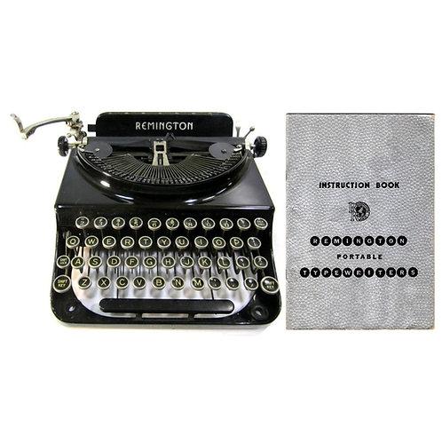 Remington Junior Deluxe Typewriter Instruction Manual