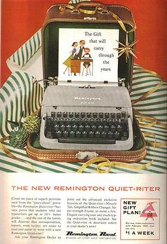 Remington Quiet Riter Typewriter Ad 1955