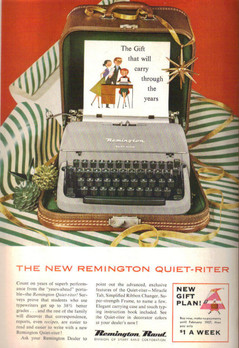 Remington Quiet Riter Typewriter Ad 1955