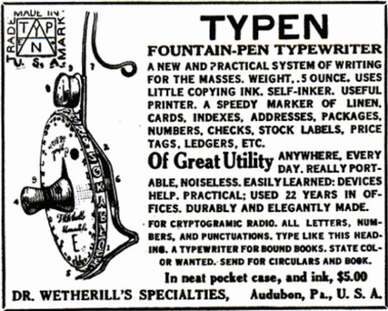Typen Typewriter Ad