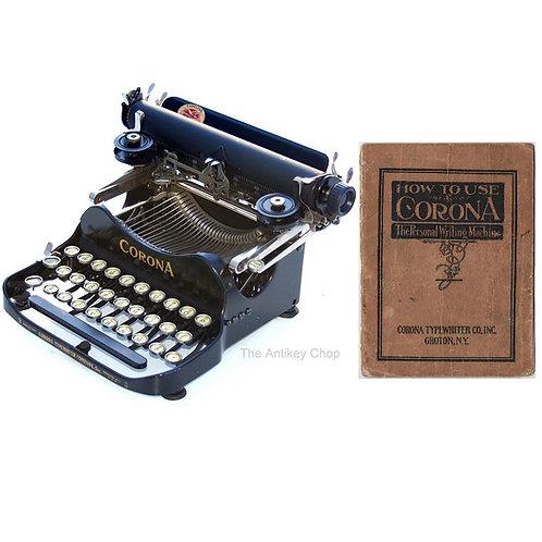 Corona No.3 Typewriter (1914 - 1922 Model) Instruction Manual