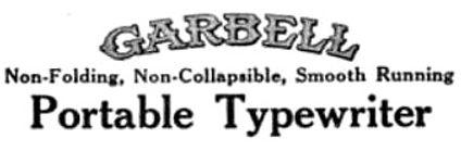 Garbell Typewriter Logo