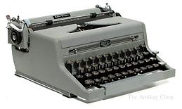 Royal Quiet de Luxe Gray Portable Typewriter