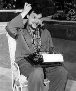 Writer Orson Welles