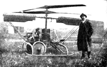 John Newton Williams and his Helicopter