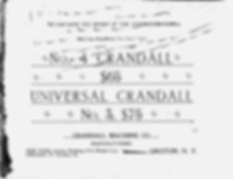 Crandall Typewriter Trade Catalog