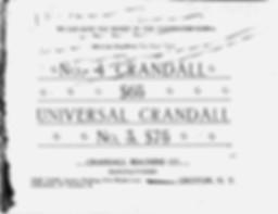Crandall Typewriter Trade Catalog