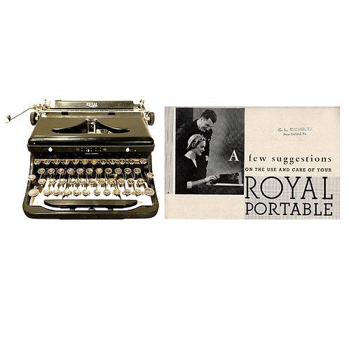 Royal Model A Typewriter Instruction Manual