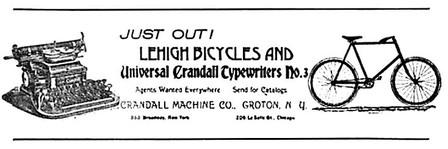 Universal Crandall No.3 Typewriter Ad