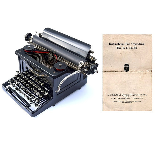 L.C. Smith & Bros. No.8 Typewriter Instruction Manual