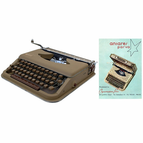 Antares Parva Typewriter Instruction Manual