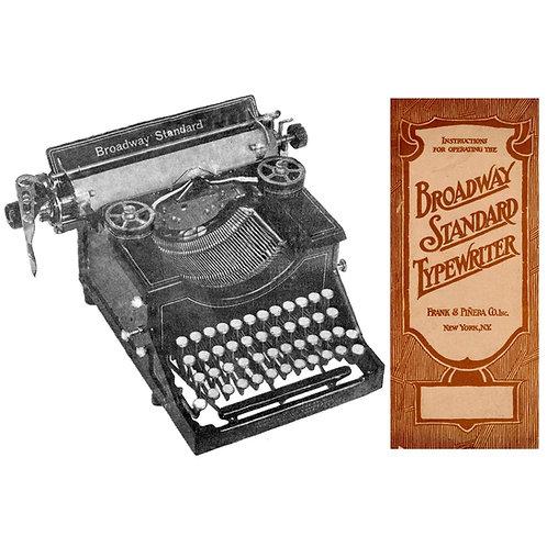 Broadway Standard Typewriter Instruction Manual